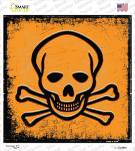 Danger Wholesale Novelty Square Sticker Decal