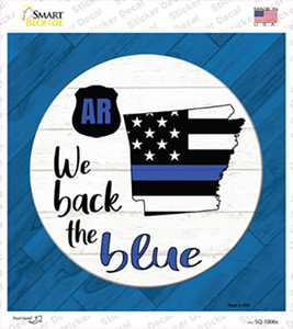 Arkansas Back The Blue Wholesale Novelty Square Sticker Decal