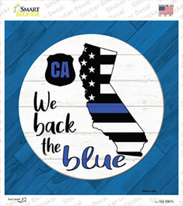 California Back The Blue Wholesale Novelty Square Sticker Decal