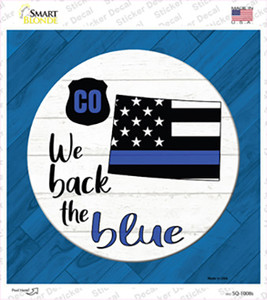 Colorado Back The Blue Wholesale Novelty Square Sticker Decal