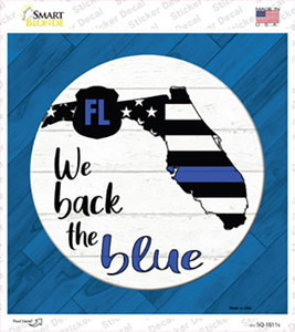 Florida Back The Blue Wholesale Novelty Square Sticker Decal