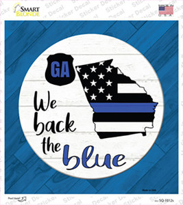 Georgia Back The Blue Wholesale Novelty Square Sticker Decal
