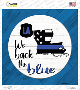 Louisiana Back The Blue Wholesale Novelty Square Sticker Decal