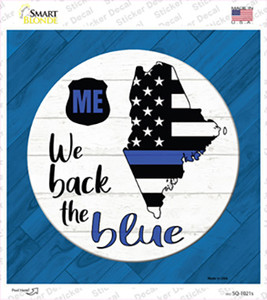 Maine Back The Blue Wholesale Novelty Square Sticker Decal