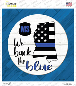 Mississippi Back The Blue Wholesale Novelty Square Sticker Decal