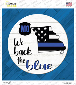 Missouri Back The Blue Wholesale Novelty Square Sticker Decal