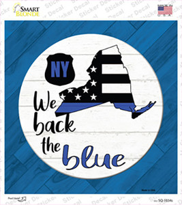 New York Back The Blue Wholesale Novelty Square Sticker Decal