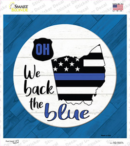 Ohio Back The Blue Wholesale Novelty Square Sticker Decal
