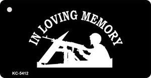 Loving Memory Lookout Mini License Plate Metal Novelty Key Chain