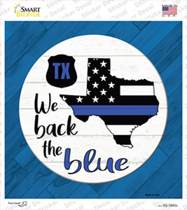 Texas Back The Blue Wholesale Novelty Square Sticker Decal