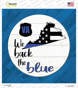 Virginia Back The Blue Wholesale Novelty Square Sticker Decal