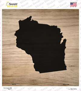 Wisconsin Shape Letter Tile Wholesale Novelty Square Sticker Decal