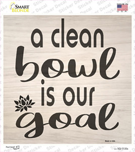 A Clean Bowl Wholesale Novelty Square Sticker Decal