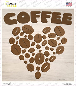 Love Coffee Wholesale Novelty Square Sticker Decal