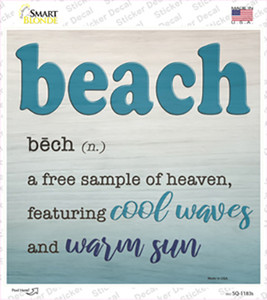 Beach Wholesale Novelty Square Sticker Decal