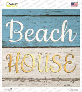 Beach House Wholesale Novelty Square Sticker Decal