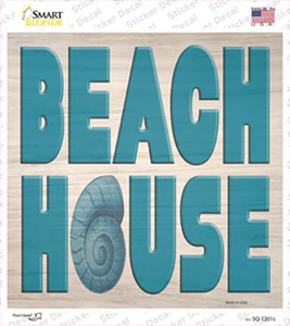 Beach House Seashell Wholesale Novelty Square Sticker Decal