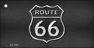 Route 66 Mini License Plate Metal Novelty Key Chain