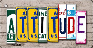 Attitude License Plate Art Metal Novelty Key Chain