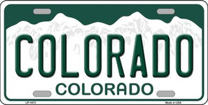 Colorado Novelty State Background Wholesale Metal License Plate LP-1473