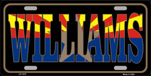Williams Arizona State Flag Wholesale Metal Novelty License Plate