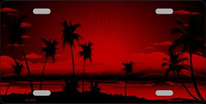 Sunset Red Wholesale Metal Novelty License Plate