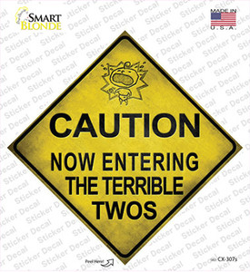 Entering Terrible Twos Xing Wholesale Novelty Diamond Sticker Decal