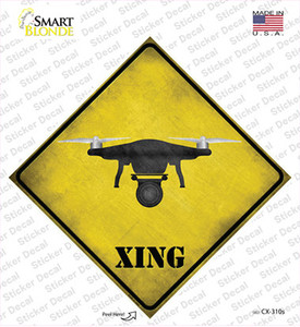 Drone Xing Wholesale Novelty Diamond Sticker Decal
