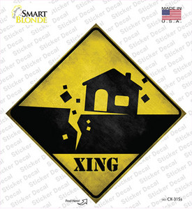 Earthquake Xing Wholesale Novelty Diamond Sticker Decal