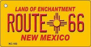 New Mexico Route 66 Mini License Plate Metal Novelty Key Chain