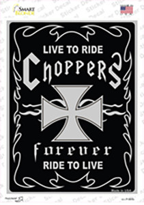 Live To Ride Wholesale Novelty Rectangle Sticker Decal
