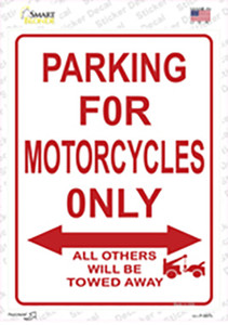 Motorcycle Only Wholesale Novelty Rectangle Sticker Decal