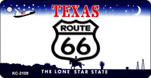 Texas Shield Route 66 Novelty Wholesale Metal License Plate