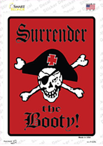 Surrender The Booty Pirate Wholesale Novelty Rectangle Sticker Decal