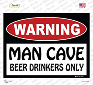 Man Cave Beer Drinkers Only Wholesale Novelty Rectangle Sticker Decal