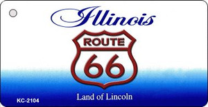 Illinois Shield Route 66 Novelty Wholesale Metal License Plate