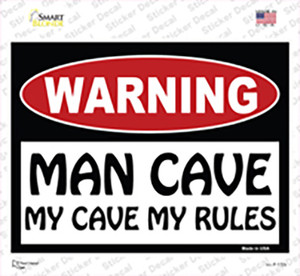 Man Cave My Cave My Rules Wholesale Novelty Rectangle Sticker Decal