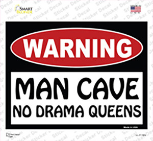Man Cave No Drama Queens Wholesale Novelty Rectangle Sticker Decal