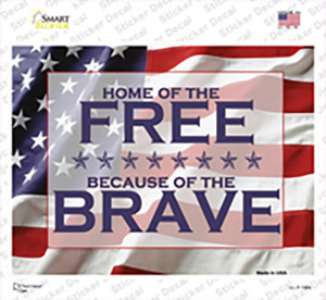 American Flag Free Brave Wholesale Novelty Rectangle Sticker Decal
