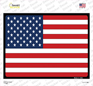 Solid American Flag Wholesale Novelty Rectangle Sticker Decal