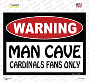 Man Cave Cardinals Fans Only Wholesale Novelty Rectangle Sticker Decal