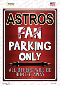 Astros Wholesale Novelty Rectangle Sticker Decal