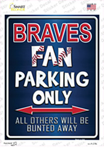 Braves Wholesale Novelty Rectangle Sticker Decal