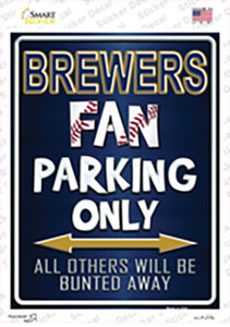 Brewers Wholesale Novelty Rectangle Sticker Decal