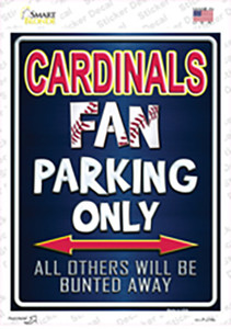 Cardinals Red Wholesale Novelty Rectangle Sticker Decal