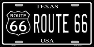 Route 66 Texas Wholesale Metal Novelty License Plate