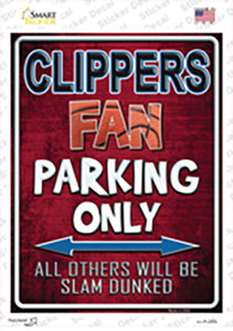 Clippers Wholesale Novelty Rectangle Sticker Decal
