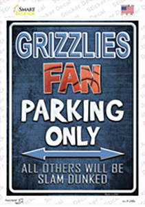 Grizzlies Wholesale Novelty Rectangle Sticker Decal