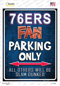 76ers Wholesale Novelty Rectangle Sticker Decal