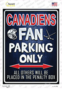 Canadiens Wholesale Novelty Rectangle Sticker Decal